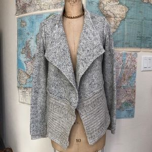 LINE clothing cardigan sweater gray knit small